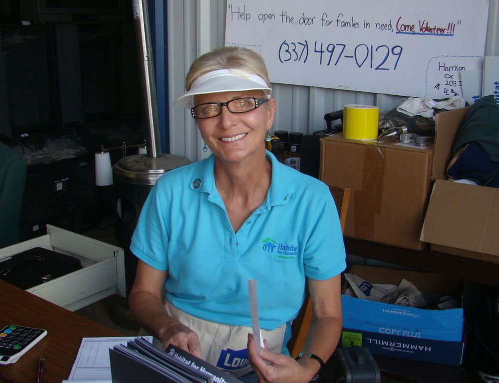 Sulphur resident Kathy Oubre was recently chosen to be the homeowner of a house that Habitat for Humanity Calcasieu Area is building on Laurel St. in Westlake. She puts in her 'sweat equity' not only at the home but also at Habitat's ReStore in Lake Charles. At ReStore